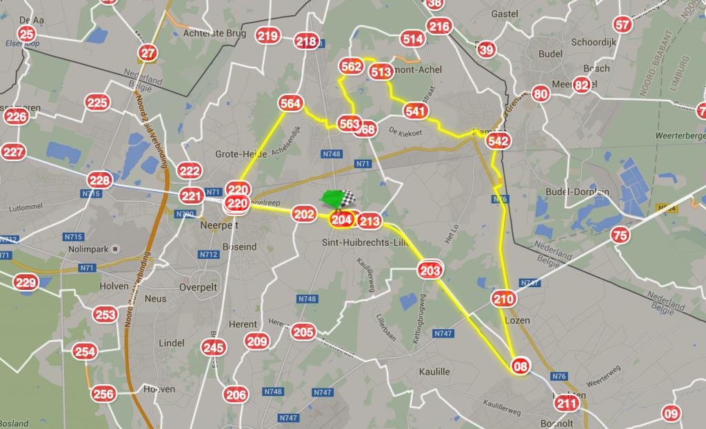 Fietsroute Limburg